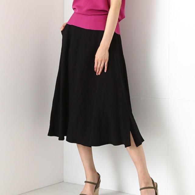 Demi-Luxe BEAMS(デミルクスビームス)のデミルクスビームス リネンスカート レディースのスカート(ひざ丈スカート)の商品写真