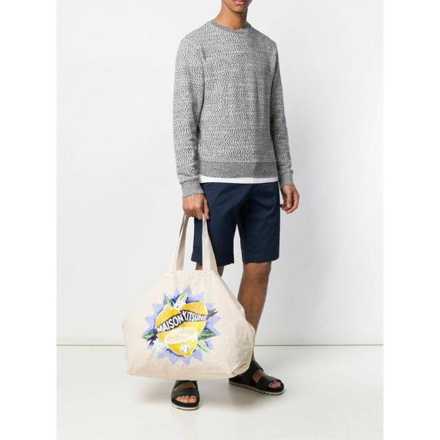 MAISON KITSUNE'(メゾンキツネ)のMAISON KITSUNE Limone Tote Bag 新品未使用タグ付き メンズのバッグ(トートバッグ)の商品写真