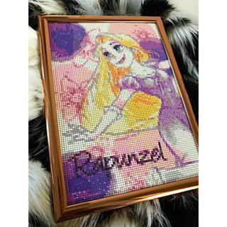 ラプンツェル ダイヤモンドアート 完成品 A4サイズ 額付き(アート/写真)
