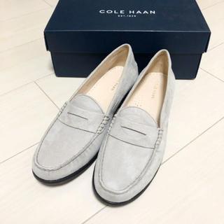 コールハーン(Cole Haan)の新品!コールハーン 25.5 本革 グレー 革靴 ローファー パンプス(ローファー/革靴)