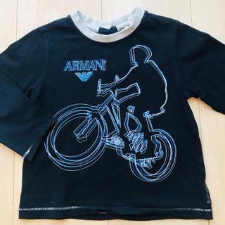 アルマーニ(Armani)の【お値下げ】ARMANI Baby ロンT 黒 74センチ(シャツ/カットソー)