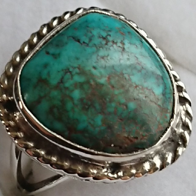 ビンテージ ナバホ インディアンジュエリー ターコイズ リング メンズのアクセサリー(リング(指輪))の商品写真