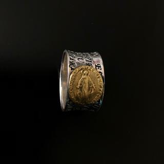 シルバーリング ゴールド付き(リング(指輪))