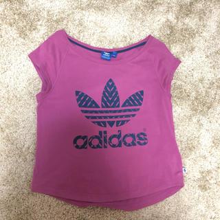 アディダス(adidas)のアディダス ショート丈 Tシャツ(Tシャツ(半袖/袖なし))