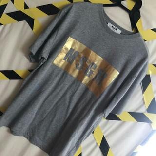 エムエスジイエム(MSGM)のgold BOXLOG  エムエスジーエム  デカロゴ  ストリート Tシャツ(Tシャツ/カットソー(半袖/袖なし))