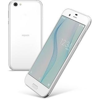 アクオス(AQUOS)の新品 au AQUOS R SHV39 ジルコニアホワイト②(スマートフォン本体)