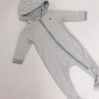 babyGAP - babyGap くまちゃん刺繍ボーダー足つきロンパース