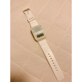 ビームス(BEAMS)のbeams トーキングウォッチ ホワイト(腕時計(デジタル))
