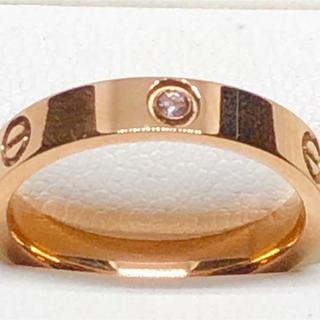 イエローゴールドGPダイヤモンドCZ付きファションショーリング❣️(リング(指輪))