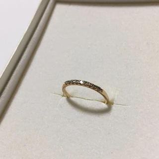 ジュエリーツツミ(JEWELRY TSUTSUMI)のK10YG/ピンキーリング/ダイヤモンド(リング(指輪))