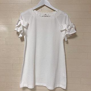 GALLERY VISCONTI - 袖口フレアリボンつきチュニック  サイズ2 ギャラリービスコンティ 美品