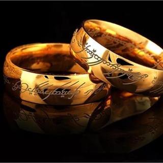 単品 ゴールドリング ステンレスリング 刻印(リング(指輪))