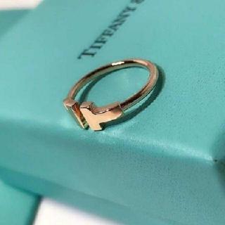 Tiffany & Co. - ティファニー☆Tワイヤーリング☆ゴールド