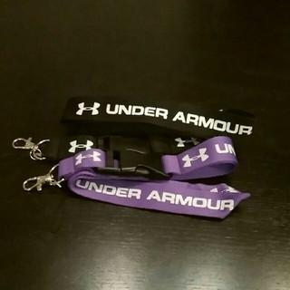 アンダーアーマー(UNDER ARMOUR)のネックストラップ2本セット フェス スマホストラップ 社員証等(ネックストラップ)