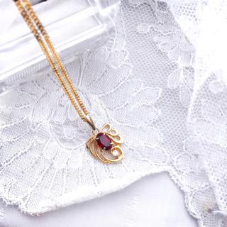 エテ(ete)のstarring silverネックレス〔ルビー〕(ネックレス)