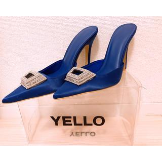 イエローブーツ(Yellow boots)のyello MINE MULES ミュール ロイヤルブルー 星あや(ミュール)