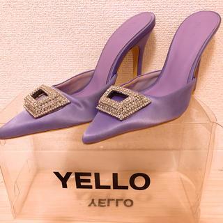 イエローブーツ(Yellow boots)のyello MINE MULES ミュール パープル 星あや(ミュール)
