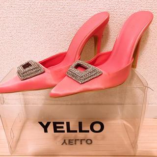 イエローブーツ(Yellow boots)のyello MINE MULES ミュール ピンク 星あや(ミュール)