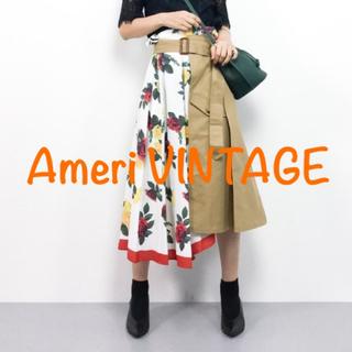 Ameri VINTAGE - Ameri VINTAGE 花柄スカート トレンチスカート アメリヴィンテージ