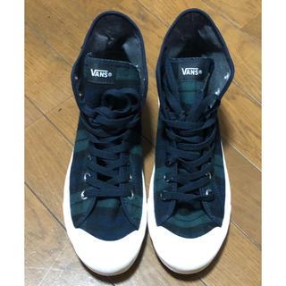 ヴァンズ(VANS)の新品未使用 VAN s  スニーカー  緑チェック柄 26.5cm  男女兼用 (スニーカー)