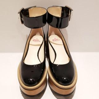 ヴィヴィアンウエストウッド(Vivienne Westwood)のプラットフォームベルトパンプス(ローファー/革靴)