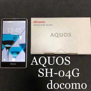 アクオス(AQUOS)のdocomo AQUOS EVER SH-04G White 中古品(スマートフォン本体)