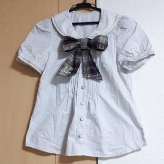 シークレットハニー(Secret Honey)のSecret Honey  丸襟 半袖 ブラウス(シャツ/ブラウス(半袖/袖なし))