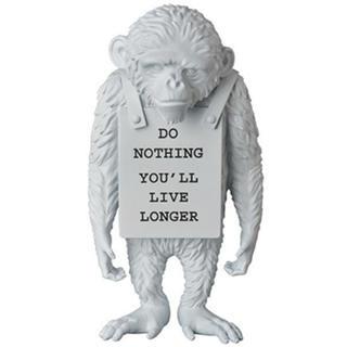 MEDICOM TOY - Banksy monkey sign white Ver. バンクシー モンキー