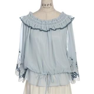 axes femme - ❮新品未使用♪❯axes femme袖刺繍シフォンプルオーバー
