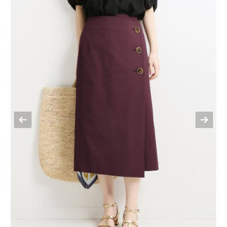 IENA - VERMEIL par iena トリコチン 3つボタンセミタイトスカート