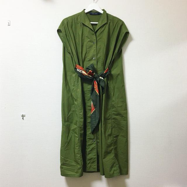 Drawer(ドゥロワー)のSOPHIE D'HOORE❣️定価6万 3Way デザインシャツワンピース レディースのワンピース(ロングワンピース/マキシワンピース)の商品写真