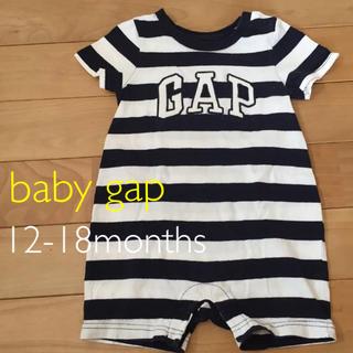 baby gap ロンパース 12-18m 80 ボーダー