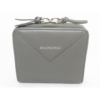 バレンシアガ(Balenciaga)の新ロゴ美品BALENCIAGAペーパー財布ラウンドファスナー レディース メンズ(財布)
