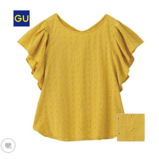 GU - GU コットンレースフリルスリーブブラウス