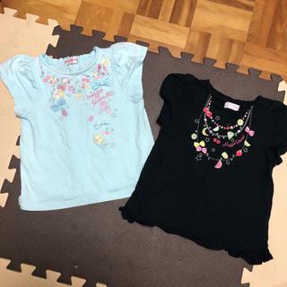 mezzo piano - お値下げ メゾピアノ フルーツ刺繍 Tシャツ