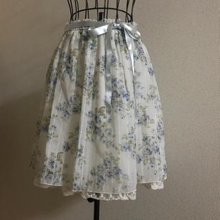 レストローズ(L'EST ROSE)のL'EST ROSE  薔薇柄シフォンスカート(ひざ丈スカート)