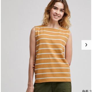 ユニクロ(UNIQLO)の新品タグ付き*オンライン限定*ノースリーブボーダーT(Tシャツ(半袖/袖なし))