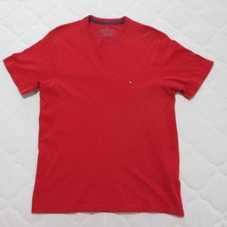 トミーヒルフィガー(TOMMY HILFIGER)のトミーヒルフィガー  TOMMY HILFIGER Tシャツ レッド S(Tシャツ/カットソー(半袖/袖なし))