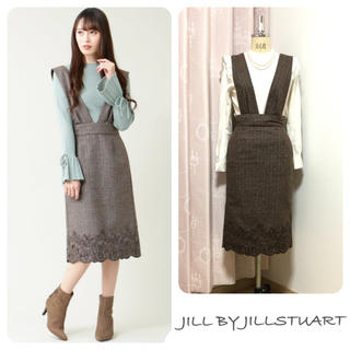 JILL by JILLSTUART - ジルバイジルスチュアート カットワーク 刺繍 ジャンパースカート