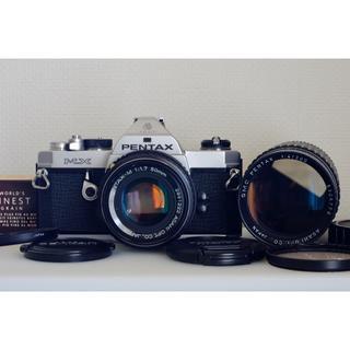 ペンタックス(PENTAX)のPentax MX + SMCレンズ2本・美品・試写済(フィルムカメラ)