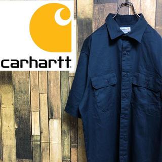 carhartt - 【激レア】カーハート☆メキシコ製ロゴタグ入り半袖ワークシャツ
