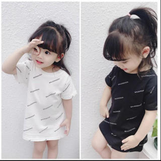 ラスト!在庫残りのみ!韓国子供服 / 英字ロゴTシャツ、ワンピース