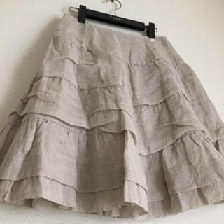 フォクシー(FOXEY)の♡美品♡ FOXEY 40 Linen Whip スカート ナチュラル ルネ(ひざ丈スカート)