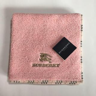 BURBERRY - バーバリー  タオルハンカチ  ピンク