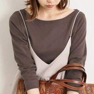 IENA - 【新品・未使用】AURALEE*IENA 別注ボートネックTシャツ◆ 36