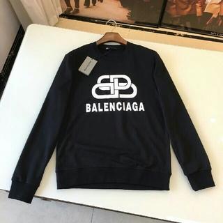 "Balenciaga - ブラック、Lサイズ ""BB"" BALENCIAGA パーカー  新品、正規品"