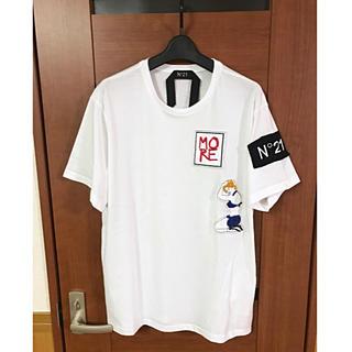 ヌメロヴェントゥーノ(N°21)のN°21 ヌメロ ヴェントゥーノ 17SS Tシャツ 未使用タグ付き XL (Tシャツ/カットソー(半袖/袖なし))