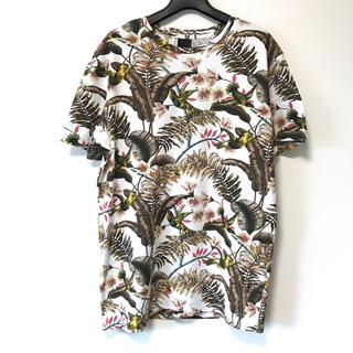 エイチアンドエム(H&M)の美品 H&M エイチアンドエム 和柄アロハ半袖TシャツS(Tシャツ/カットソー(半袖/袖なし))
