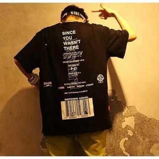 バーコード Tシャツ  ビッグシルエット 韓国ファッション ブラック(Tシャツ/カットソー(半袖/袖なし))