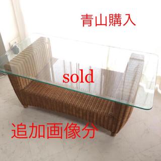 カッシーナ(Cassina)の先行値下!追加画像 貴重 青山購入アンティーク風ローテーブル ダイニングテーブル(ローテーブル)